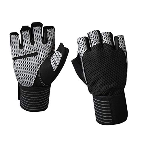 YOYIK Half Finger Gloves Cycling Gloves Mountain Bike Gloves S Silicone Microfiber Wear-Resistant and Breathable Half-Finger Gloves for Men Women Exercise Gym Training Sports Gloves