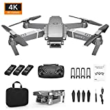 Drone x pro 2.4G Selfie WiFi FPV with 4K HD Camera Foldable RC Quadcopter RTF, Equipped with a 720 P / 1080 P / 4 K Wide-Angle Camera (C)