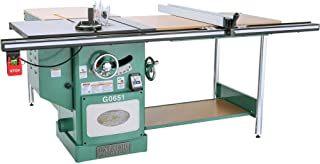 """Grizzly Industrial G0651-10"""" 3 HP 220V Heavy Duty Cabinet Table Saw with Riving Knife"""