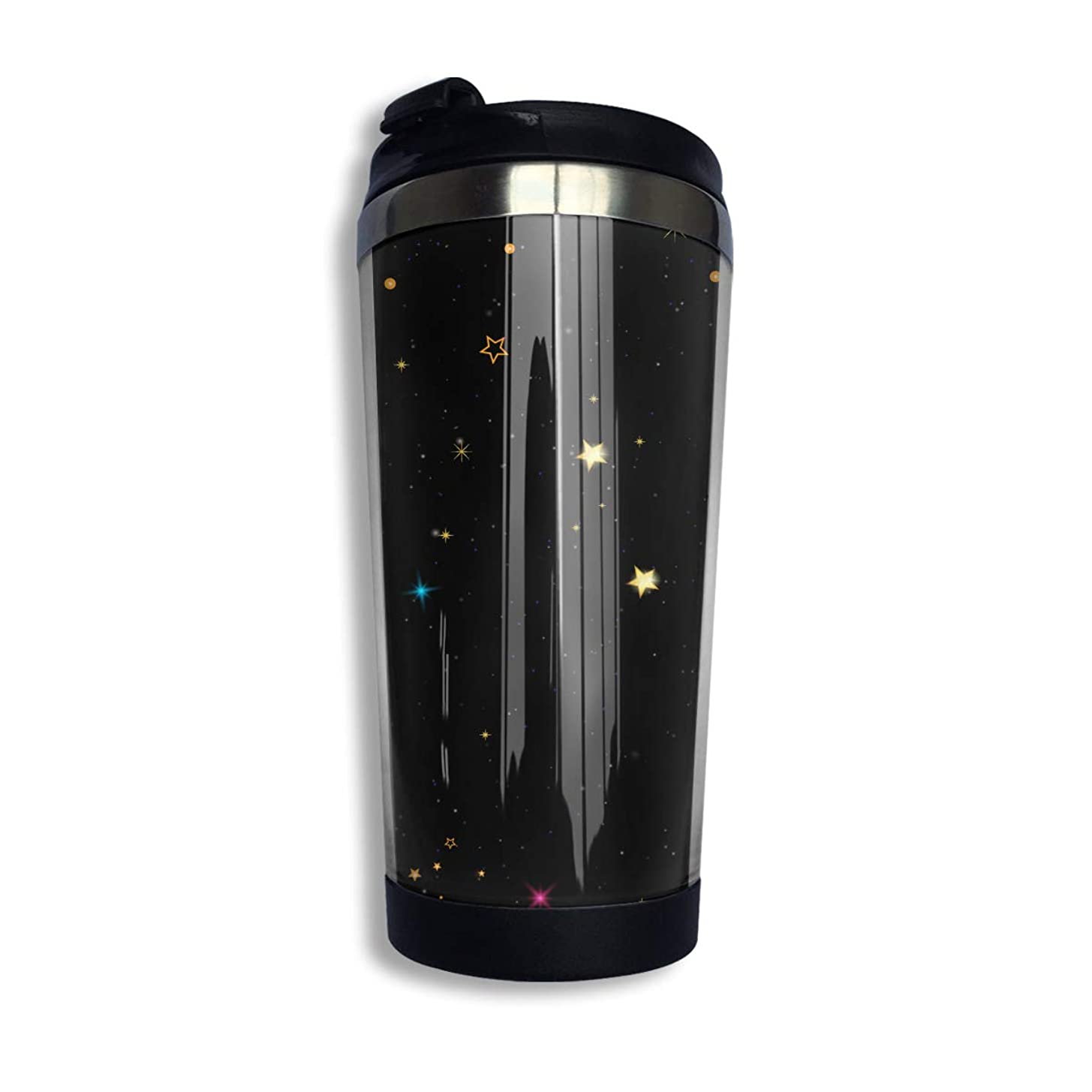 作曲する魅惑的な優れましたMilicamp マグボトル 水筒 直飲み 魔法瓶 400ml ステンレスマグボトル 保温 カップ おしゃれ 星空物語 コーヒー コップ 蓋付き 真空断熱タンブラー ステンレスボトル オフィス ギフト 贈り物