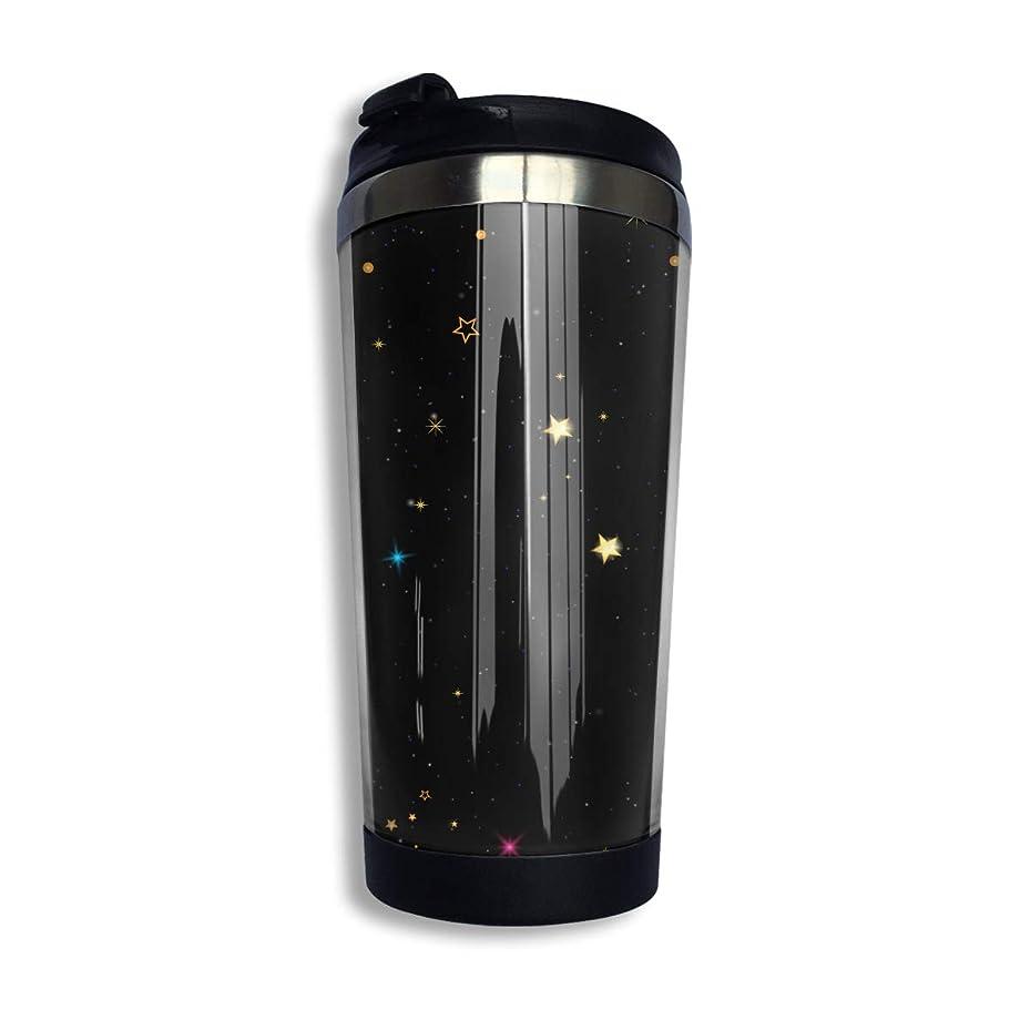 落ち着くコース暗殺するMilicamp マグボトル 水筒 直飲み 魔法瓶 400ml ステンレスマグボトル 保温 カップ おしゃれ 星空物語 コーヒー コップ 蓋付き 真空断熱タンブラー ステンレスボトル オフィス ギフト 贈り物