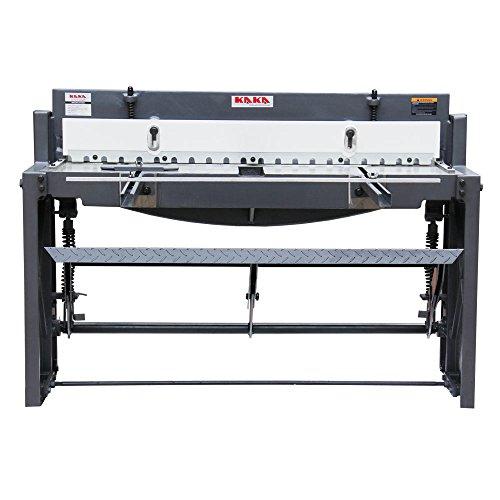 KAKA Industrial Q01-5216 52-Inch Foot Stomp Shear Solid Construction High Precision Sheet Metal Foot Shear, 16 Gauge Mild Steel Capacity