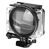 D&F 58mm Close-Up Macro Filter Lens 10X Magnificatoin High Definition Lens for GoPro Hero 7 Black/Hero 6/Hero 5/Hero(2018) Case (Only for Standard Case)