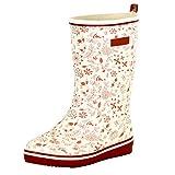 LINGZE Las Botas de Mujer Impermeabilizan los Zapatos de Mucker de Caza a Media Pantorrilla, Botas de Lluvia Impresas Trabajo de jardín