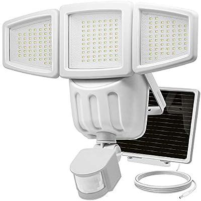 Solar Lights Outdoor, Costech Super Bright 182 LED Motion Sensor Solar Lights with Wide Lighting Area; Adjustable Triple Dual Head, 1000 Lumen, 3 Control Dials, Waterproof Solar Wall Lights