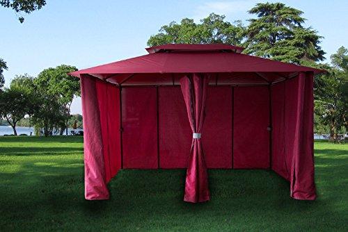 paramondo Comfort Gazebo Pabellón de jardín Cenador Resistente al Agua, 4 x 3m Incl. Paredes Laterales, Antracita: Amazon.es: Jardín