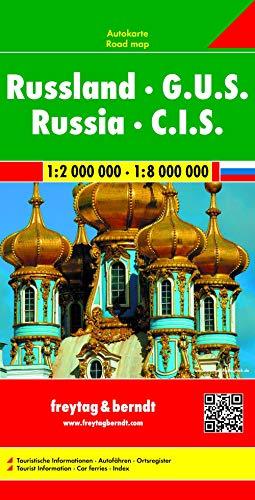 Russland - G.U.S., Autokarte 1:2 Mio. - 1:8 Mio.: Touristische Informationen, Autofähren, Ortsregister (freytag &...