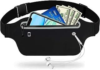 Gürteltasche Hüfttasche Wasserdichte Laufgürtel Bauchtasche mit Kopfhöreranschluss Reflexstreifen für für iPhone 12 Pro 11...