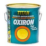 Oxiron Liso Satinado Efecto Forja - 4 L, Negro
