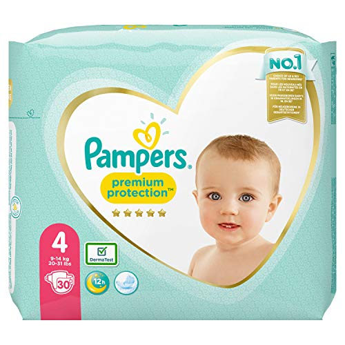 Pampers Premium Protection Größe 4, 30 Windeln, 9kg-14kg