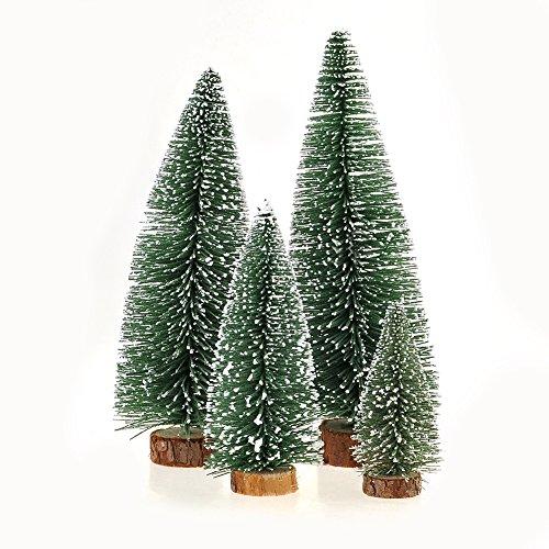 Mini Alberi di Natale da Tavolo con Neve Artificiale...