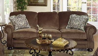 Carlton Sofa and Recliner Set in Java