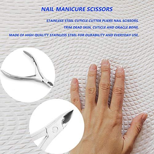 Kongqiabona-UK Pince à cuticules en Acier Inoxydable Professionnelle Ciseaux à Ongles Garniture Outil à Ongles Garniture Peau Morte