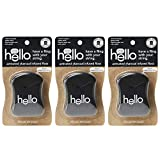 Hello Oral Care Activated Charcoal Infused Floss, Vegan Wax, Natural Peppermint Flavor, 3 Count
