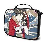 Cute Cartoon Geisha con Japón Travel Travel Estuche de Maquillaje para Mujeres Hombres Beauty Bag Girls Cosmetic Bag Multifunción Impreso Bolsa para Mujeres