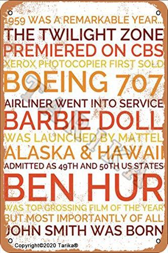 Boeing 707 Barbie Doll Ben Hur 20 x 30 cm, aspecto vintage, placa decorativa para el hogar, cocina, baño, granja, jardín, garaje, citas inspiradoras, decoración de pared