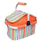 Bolsa de picnic Portátil bolsa de picnic al aire libre grande de gran capacidad aislante cesta de picnic portátil coche bolsa de almacenamiento Mantener paquete nuevo bolso de hielo plegable cesta de