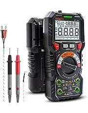 KAIWEETS Cyfrowy multimetr z gniazdami LED, miernik natężenia prądu CAT III 1000 V, CAT IV 600 V True RMS Auto Range 6000, mierzy napięcie, pojemność, temperaturę, opór dla elektryków