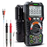 KAIWEETS HT118A Professional Digital Multimeter, Autoranging Polymeter with Real Value 6000 Counts to Measure AC / DC Current and Voltage, NCV, Capacitance, Continuity, Resistance, Battery, Diode, Live