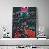 wojinbao Kein Rahmen The Weeknd Retro Vintage-Stil Leinwand