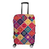 Funda para maleta CHEHONG estilo oriental cuadrado de viaje, funda protectora lavable de fibra de poliéster elástica a prueba de polvo