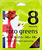ROTOSOUND ROT-R8 Roto Greens Extra Light エレキギター弦×6SET