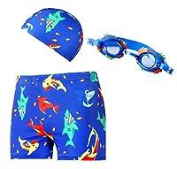 GIFT TOWER 男の子 水着 ボーイズ パンツ キャップ付 2点セット 3点セット キッズ水着 ショートパンツ プール 温泉 海辺 可愛い スイムウエア 水遊び M D