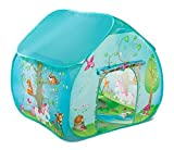 Childrens Pop Up Play Tent Designed like an Enchanted Forest with a Unique Printed Play Floor :...