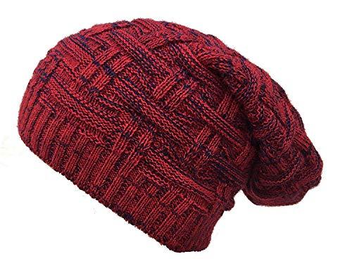 EASY4BUY® Knitted Slouchy Beanie Woolen Cap for Men & Women(Red)