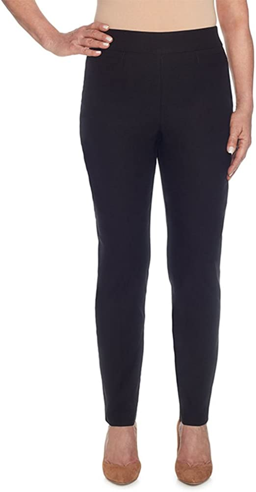 Alfred Dunner Women's Allure Slimming Plus Size Short Stretch Pants-Modern Fit