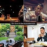 EKKONG Aschenbecher mit Deckel, Großer Edelstahl Aschenbecher Windgeschützt, Tischaschenbecher mit Rutschfeste Basis für Draußen und Innen, Moderne Aschenbecher für Home Office Dekoration (Klein) - 4