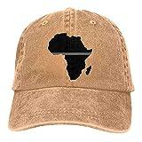 Gorra De Camionero Mapa Africano Bandera De EE. UU. Bandera De Línea Gris Fina Gorra De Béisbol A Prueba De Viento Sombrero De Vaquero De Mezclilla Verano Ajustable Hombres Mujere