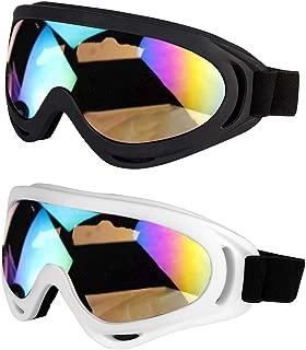 LJDJ Motorcycle Goggles – Glasses Set of 2 – Dirt Bike ATV Motocross Anti-UV..
