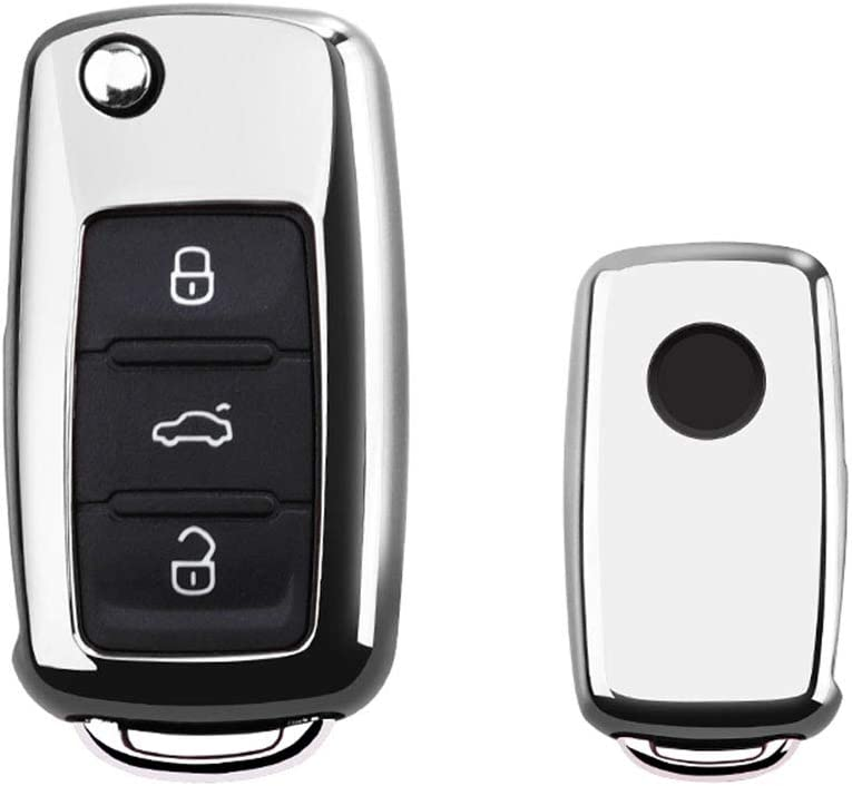 Max 84% OFF GEERUI Key Max 90% OFF Fob Cover TPU Volkswagen Tiguan Pass Case for