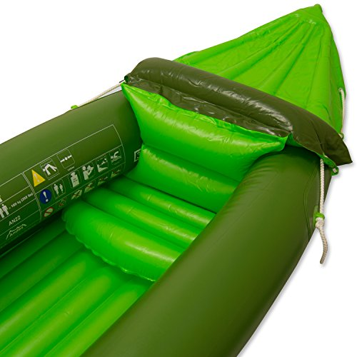 Andes Green Inflatable/Blow Up Two Person Kayak/Canoe With Paddle Water Sports