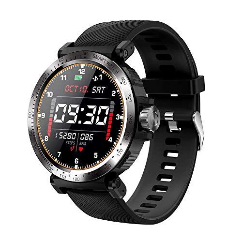 ZHENAO Smart Watch, Pantalla Táctil Redonda de Alta Definición de 1.3 Pulgadas, Pedómetro Deportivo Multifuncional Impermeable Ip68, Recordatorio de Mensajes Inteligentes Pulsera de