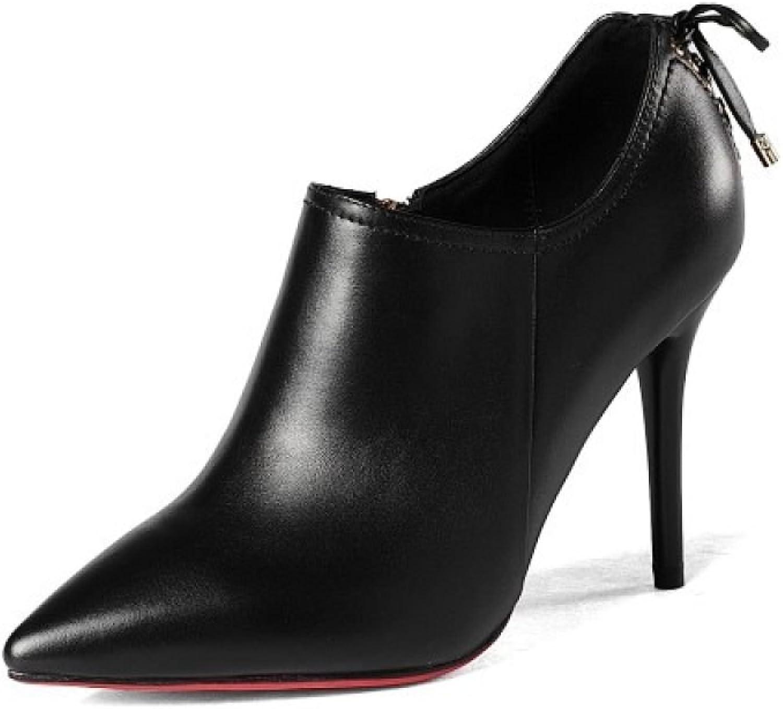 Frühling Lederschuhe Europa Europa Europa Und Die Vereinigten Staaten Mode Einzelne Schuhe Sehne Am Ende High Heels  3a0261
