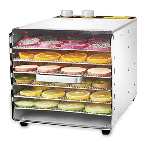 WLJHGJ Deshidratador de Frutas, Temperatura Ajustable 33 a 80 ° C Secador de función de sincronización para Frutas Frescas y secas Secador de Frutas de cuadrícula de 6 Capas