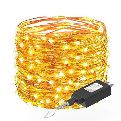 Fairy String Lights 33ft with 100 LEDs,Ittiot Christmas Lights Waterproof Outdoor & Indoor Decorative Lights for Bedroom, Garden, Patio, Parties, UL Power Supply Copper Wire Lights