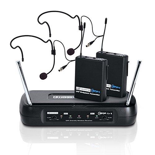 LD Systems LDWSECO2X2BPH2 - Micrófono inalámbrico (2 canales, de auricular)