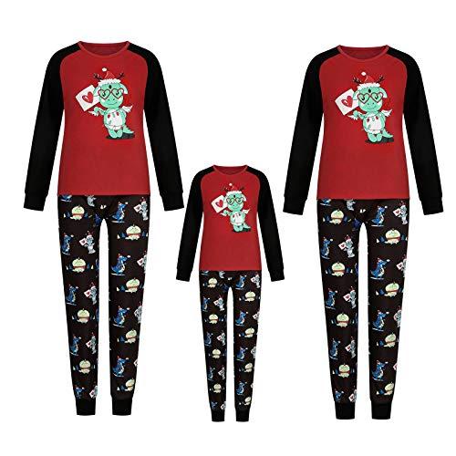 Dasongff Weihnachten Schlafanzug Familien Weihnachten Pyjama Set Langarm Zweiteiliger...