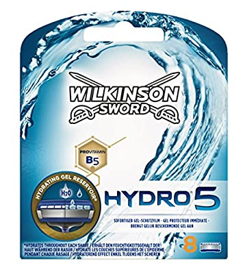 Wilkinson Sword 70010230 Hydro 5 Razor Blades for Men, Pack of 8