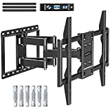 Eono by Amazon - Soporte TV Pared Giratorio Inclinable para la Muchos 42-70 Pulgadas (106cm-177cm) LED, LCD, OLED y Plasma Televisores hasta VESA 600x400mm y 45,5kg, con Tacos Fischer, PL2126