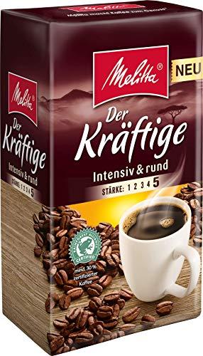 Melitta Gemahlener Röstkaffee, Filterkaffee, intensiv und rund, Stärke 5, Der Kräftige, 12er Pack (12 x 500 g)