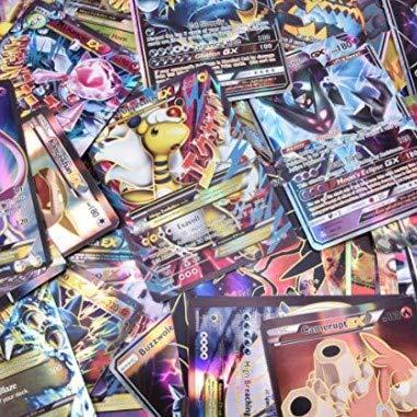cheap4uk 100 Piezas Cartas de Pokemon Surtidas Tarjetas GX MEGS Energy y EX Tarjetas de Juegos de Pokémon niños Regalo de año Nuevo Juguetes para niños Juego de Ocio Juego de Fiesta