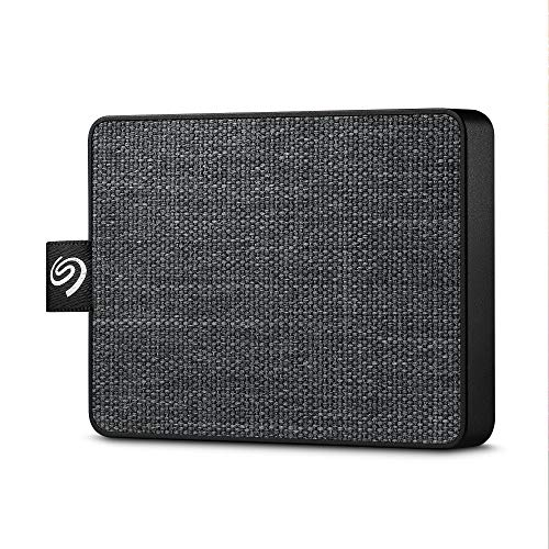 Seagate One Touch SSD, tragbare externe SSD 500 GB, 2.5 Zoll, USB 3.0, PC & Mac, schwarz, inkl. 3 Jahre Rescue Service, Modellnr.: STJE500400