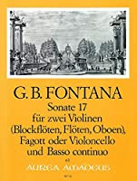 FONTANA G. - Sonata nコ 17 para 2 Violines, Fagot y BC (Partitura/Partes) (Zumbrunn/Muller Reuter)