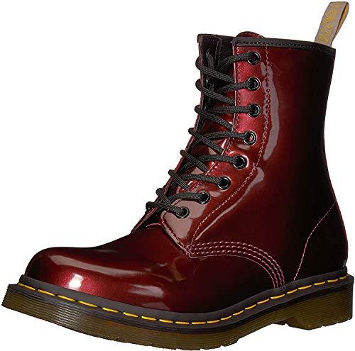 Dr. Martens Damen 1460 W Vegan Chrome Kurzschaft Stiefel, Rot (Oxblood 601), 36 EU