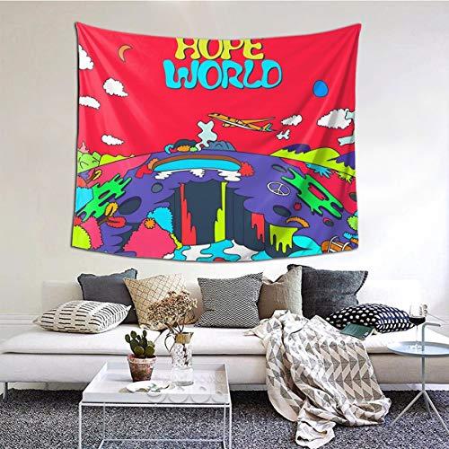 Gbxiat J-Hope Hope World Album Art Boutique Tapisserie Tenture Murale Tapisserie Vintage Tapisserie Murale Tapisserie Micro Fibre Peach Home Decor 60X51 in