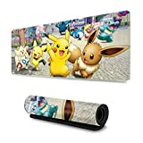 Anime Pokemon Pikachu Large Gaming Mouse Pad Extended Mousepad XL Keyboard Mat 11.8in X 31.5in